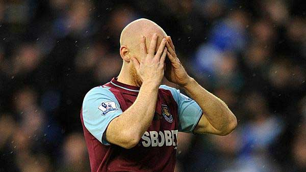 james collins holds his head
